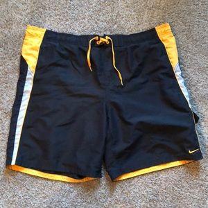 Nike swim shorts.
